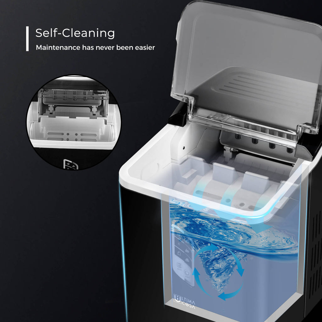 self-cleaning ice maker