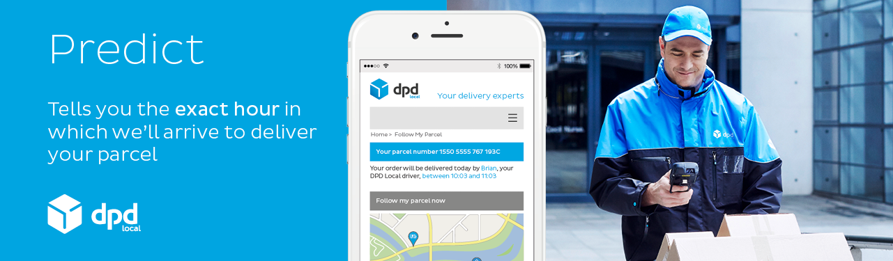 Fast Tracked Delivery with 1 hour slot with DPD courier