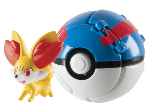 Pokemon Fennekin Great Ball Throw 'n' Pop