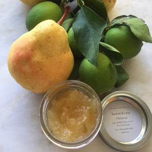 Bartlett Pear Preserve with a Hint of Lime