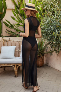 Black See Through Cover-up Dress
