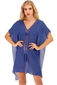 Hollow Beach Cover-up in White, Black and Blue