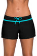 Load image into Gallery viewer, Black Swim Boardshort With Blue or Violet Trim