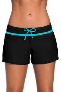 Black Swim Boardshort With Blue or Violet Trim
