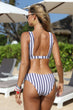 Load image into Gallery viewer, Striped Cut-Out Bikini