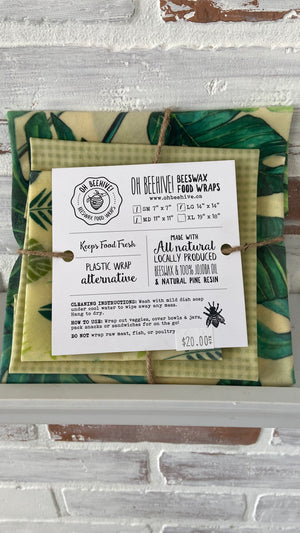 Beeswax Food Wraps | 3 Variety