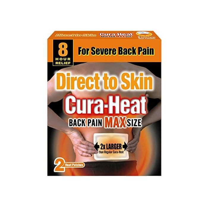 Cura-Heat Back Pain Max Size 2'S