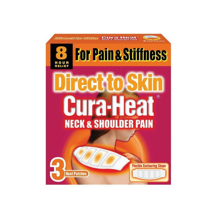 Cura-Heat Neck & Shoulder Direct To Skin 3'S