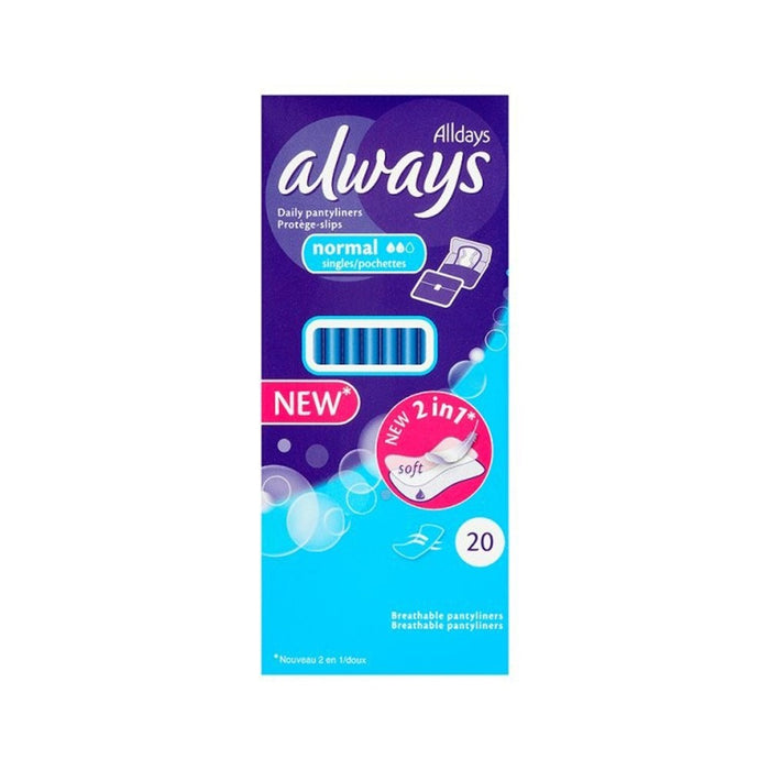 Always Alldays Liners 20'S Normal Blue
