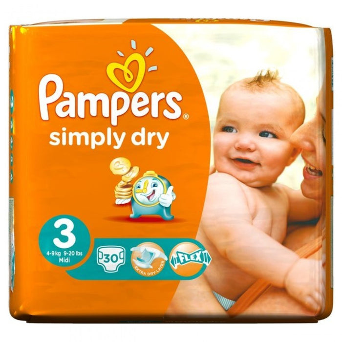 Pampers Simply Dry Midi 3