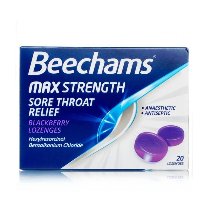 Beecham Sore Throat Lozengers Blackberry