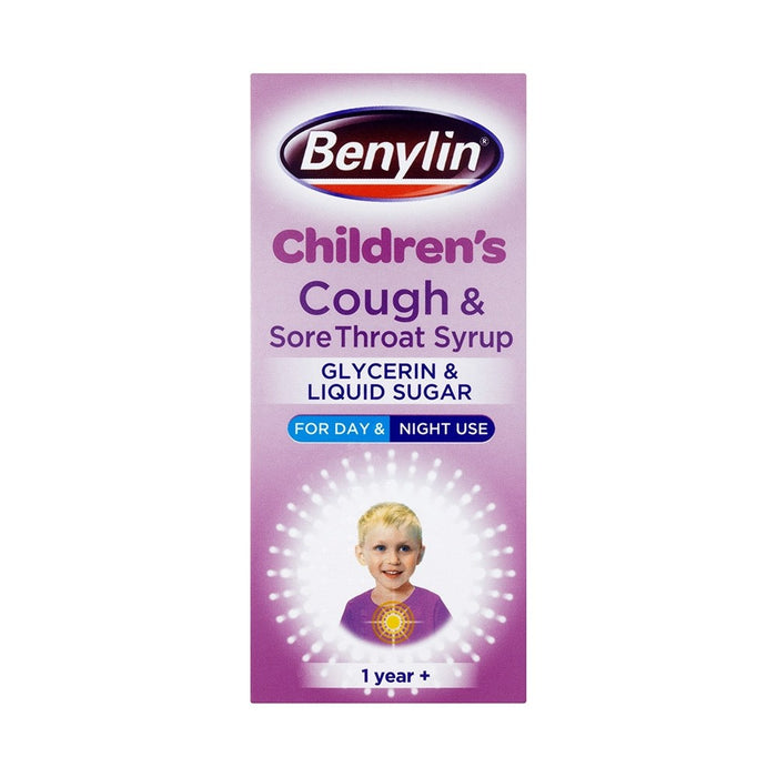 Benylin Children'S Cough & Sore Throat Syrup Blackcurrant