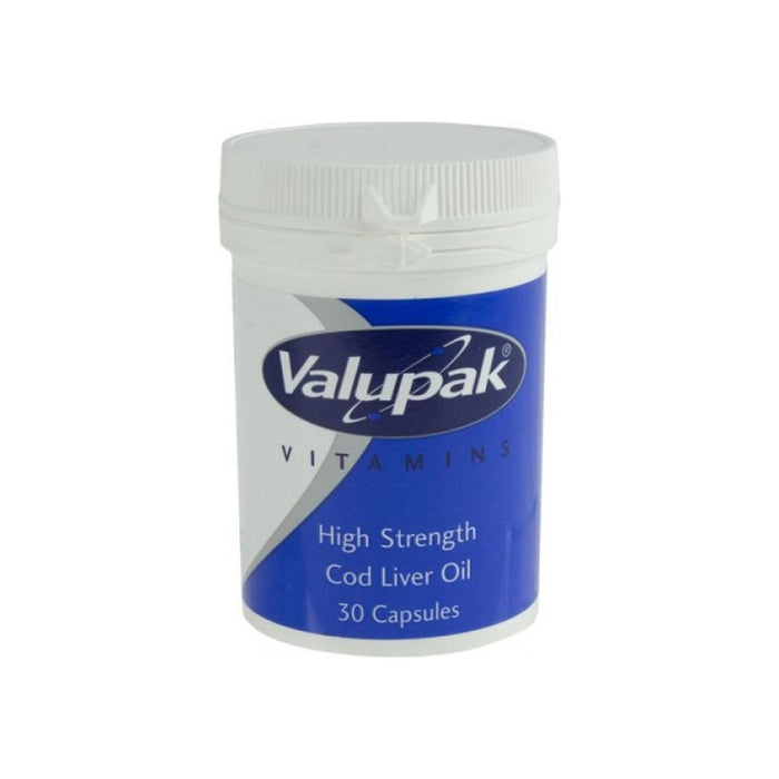 Valupak Cod Liver Oil Caps 30 Hi Strength