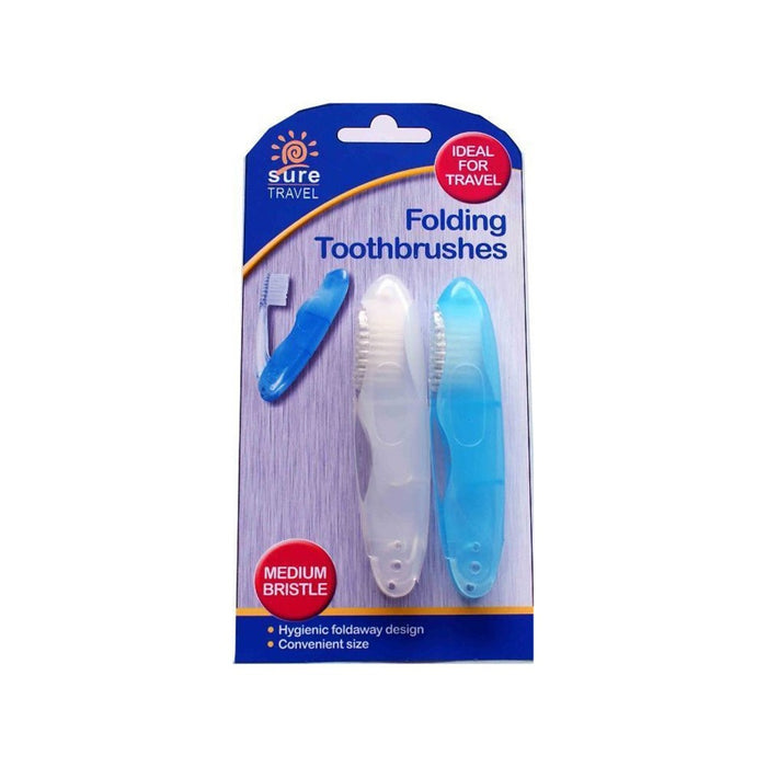 Sure Travel Folding Tooth Brushes 2 Pack