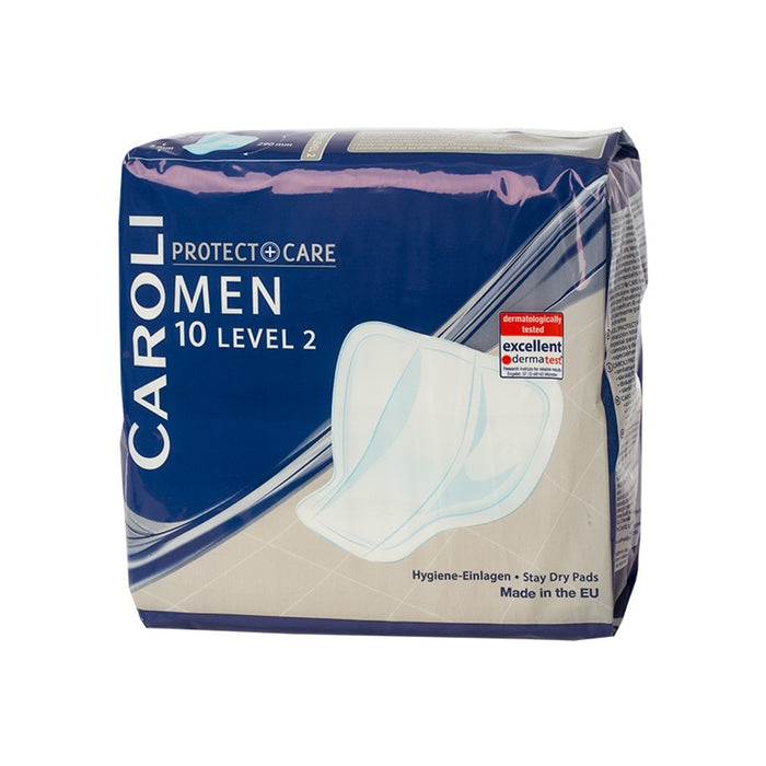 Caroli Incontinence Pads - Men, Level 2 Pack 10