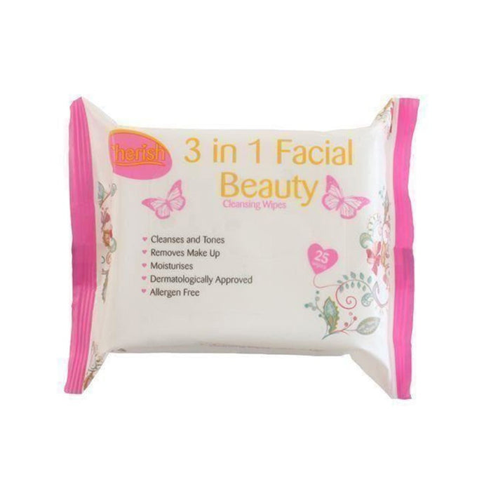 Cherish Face Wipes Norm 3In1