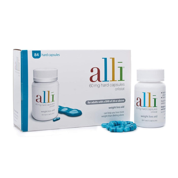 Alli 60mg Caps 84'S Orlistat For Weight Loss