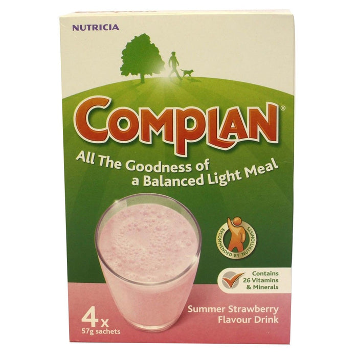 Complan Strawberry 4 X 57G Sachets