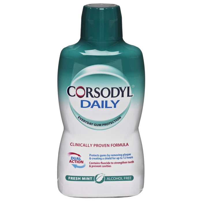 Corsodyl Daily Defence Fresh Mint Alcohol Free