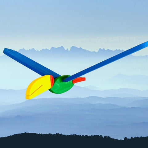Colorful Toucan Flying Wooden Toy