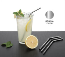 Load image into Gallery viewer, 581 Stainless Steel Straws & Brush (4 Bent straws, 1 Brush) -5pcs
