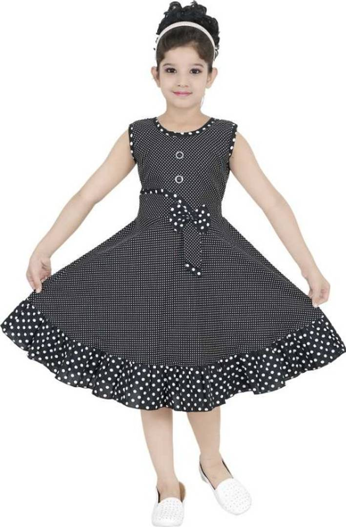 GIRLS BLACK COTTON FROCK