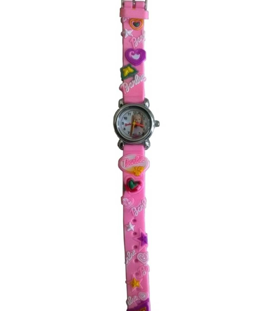 Barbie analog purple colour fancy girls kids watch