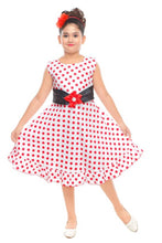 Load image into Gallery viewer, Cutie Pie Kids Girls Festive/Party Wear Bobby Printed Cotton Frock