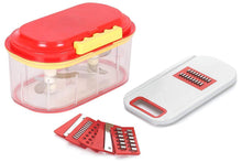 Load image into Gallery viewer, 071 Plastic Vegetable Chopper Set (3 Pcs, Orange)