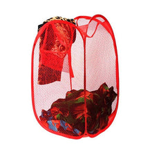 Load image into Gallery viewer, 248 Laundry Hamper Mesh Fabric For Ventilation Foldable Storage Pop Up Clothes Basket