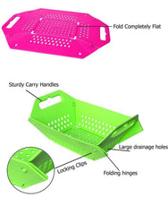 Load image into Gallery viewer, 704 -3 in 1 Fruit & Vegetable Chopping Board Wash Folding Basket