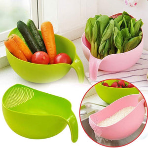 156 Rice Bowl Thick Drain Basket with Handle