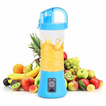 Load image into Gallery viewer, 0739 Portable Blender Juicer Cup USB Rechargeable Electric Automatic Vegetable Juicer Cup Lemon Orange Maker Mixer Bottle Drop 380ml