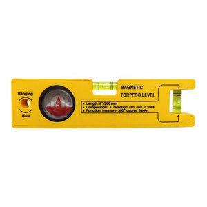 429 8-inch Magnetic Torpedo Level with 1 Direction Pin, 2 Vials and 360 Degree View