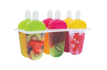 Load image into Gallery viewer, 737  6 Pcs Multicolor Polypropylene Ice Mold, Kulfi Maker/Stick/Cream/Candy Color Assorted