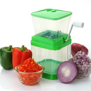 2003_Small Onion Chopper & Vegetable Chopper Quick Cutter with Rotating Blade