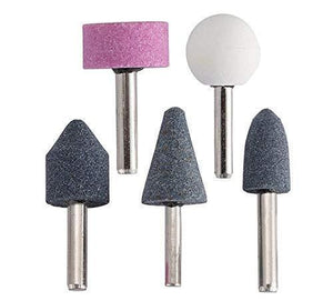 412 -5 Pcs Shank Abrasive Mounted Stone (Multicolour)