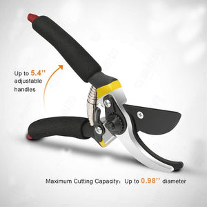 RajviMart.com Gardening Combo - Premium Flower Cutter (Hedge Shears) & Household/Garden Scissor