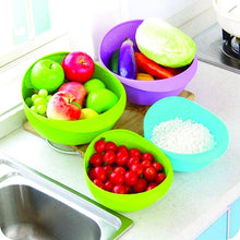 Load image into Gallery viewer, 108 Kitchen Plastic big Rice Bowl Strainer Perfect Size for Storing and Straining