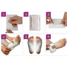 Load image into Gallery viewer, 644 kinoki Cleansing Detox Foot Pads, Ginger & salt Foot Patch -10pcs (Free Size, White)