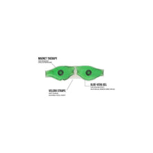 Load image into Gallery viewer, 403 Cold Eye Mask with Stick-on Straps (Green)