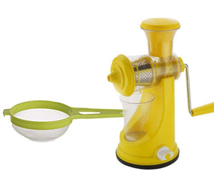 RajviMart.com Kitchen combo -Manual Fruit Juicer with Plastic Big Tea Strainer Sieve