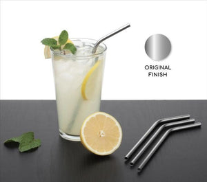 RajviMart.com Food Grade Silicone Straws(4pc), Stainless Steel Straws(4pc) & Straw Cleaning Brush(2pc)