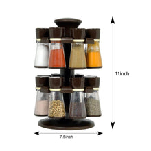 Load image into Gallery viewer, 103 Revolving Plastic Spice Rack Masala Organiser (16 Pcs)