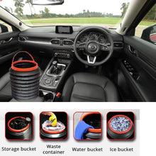 Load image into Gallery viewer, 237 -4L Foldable Car Trash Can Storage Organiser
