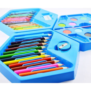 859 46 Pcs Plastic Art Colour Set with Color Pencil, Crayons, Oil Pastel and Sketch Pens