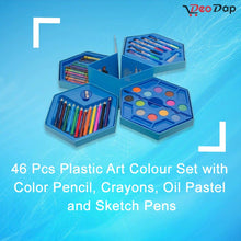 Load image into Gallery viewer, 859 46 Pcs Plastic Art Colour Set with Color Pencil, Crayons, Oil Pastel and Sketch Pens
