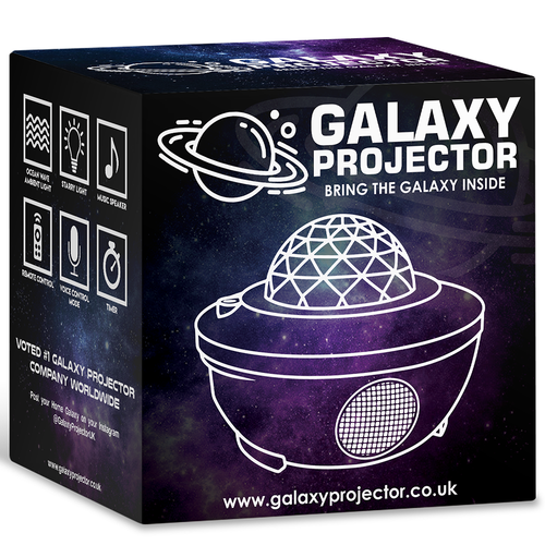 #1 Bestseller Galaxy Projector™ Night Sky Bluetooth Light Projector Black/White