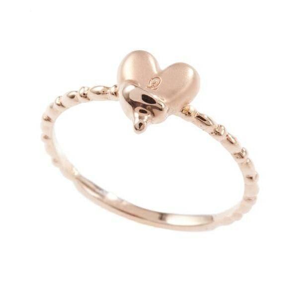 【10K-Pink Gold】Melty Heart Ring