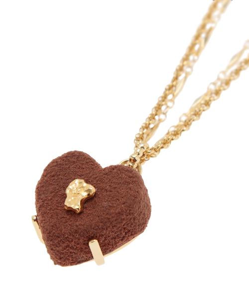 Luxe Heart Chocolat Necklace